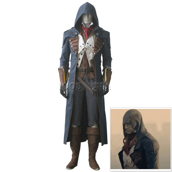 Promo Offer Assassins Creed Unity Cosplay Arno Dorian Costume Men