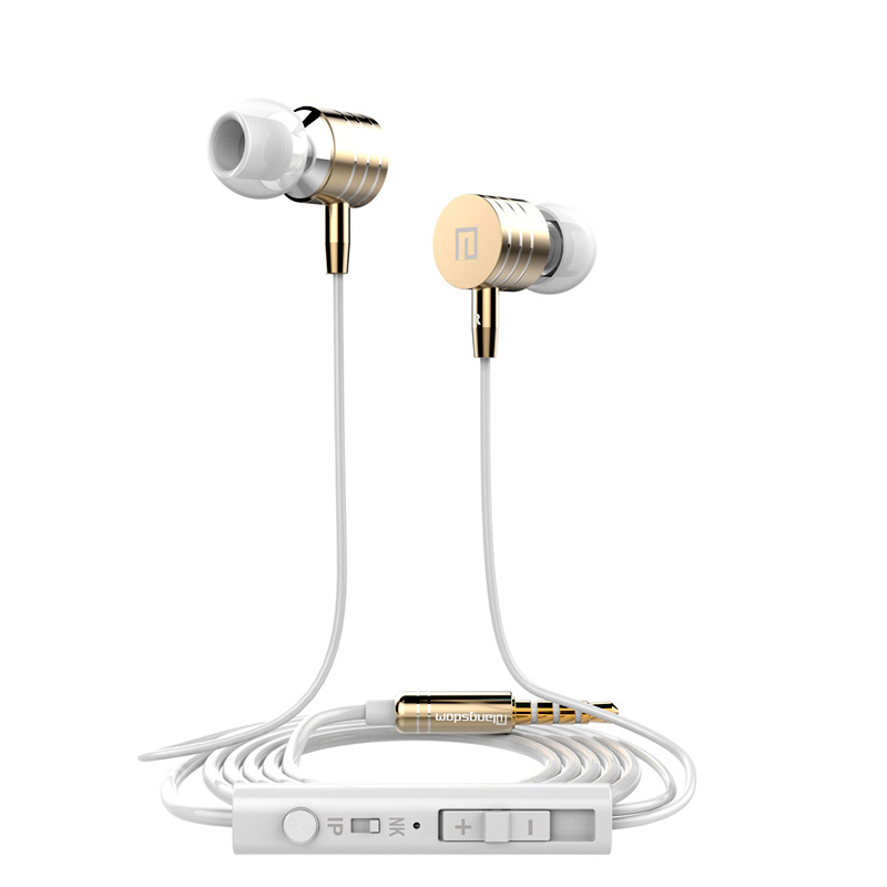 все цены на New Stereo Earphone 3.5mm Jack Headphones  Metal Bass Headset  In-Ear Stereo Earbuds With MIC for all Mobile Phone  MP3 онлайн