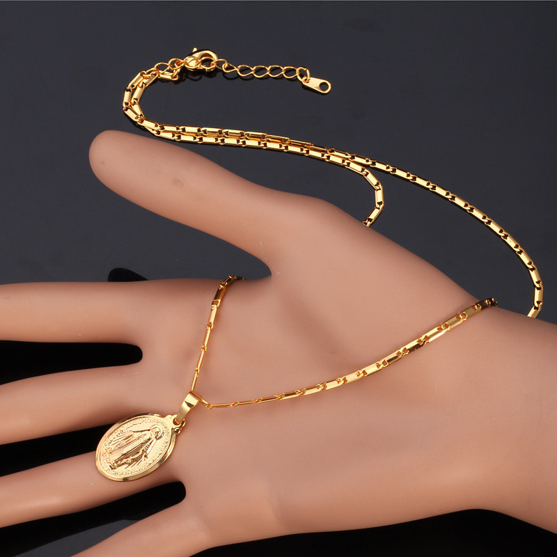 Collare Virgin Mary Pendant GoldRose GoldSilver Color Wholesale