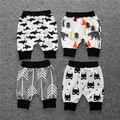 Verano de los bebés de algodón Pantalones Cortos lindo bebé PP pantalones Capri pantalones harem # 55ssy