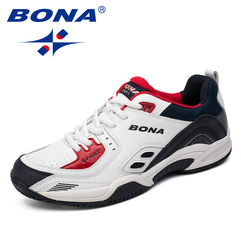 BONA New Popular Style Men Tennis Shoes Outdoor Jogging Sneakers Lace Up Men Athletic Shoes Comfortable Light Soft Free Shipping peak sport men outdoor bas basketball shoes medium cut breathable comfortable revolve tech sneakers athletic training boots