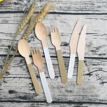 حفل زفاف لصالح 12 قطعة بريق الذهب والفضة الشظية أطباق مائدة تستخدم مرة واحدة طرفة الملاعق الشوك السكاكين لوازم الحفلات