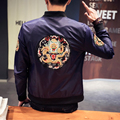 2017 new men women jacket large size male jacket chinese dragon embroidery outwear fashion hiphop casual coat M-5XL,JK11