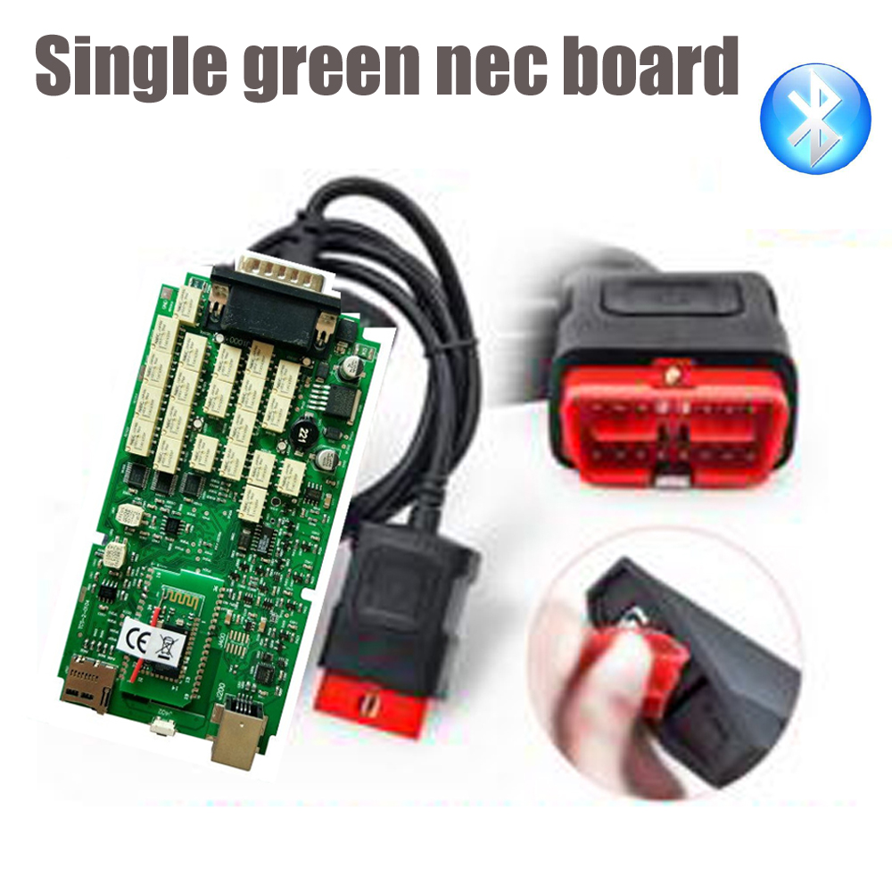 A+ Quality VD TCS CDP + bluetooth single green board multidiag pro MVD 2015 R3 keygen software cars trucks OBD2 diagnostic tool