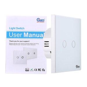 Image 4 - NEO COOLCAM NAS SC01Z interruptor de luz de pared z wave Plus, 2CH Gang Home Automation Z wave, interruptor de luz de Control remoto inalámbrico