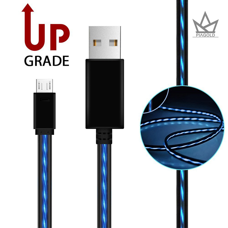 Micro USB кабель, aoliplus Видимый протекающего EL с подсветкой зарядки Шнуры USB 2.0 мужчина к Micro B кабель синхронизации данных для сотового телефон к