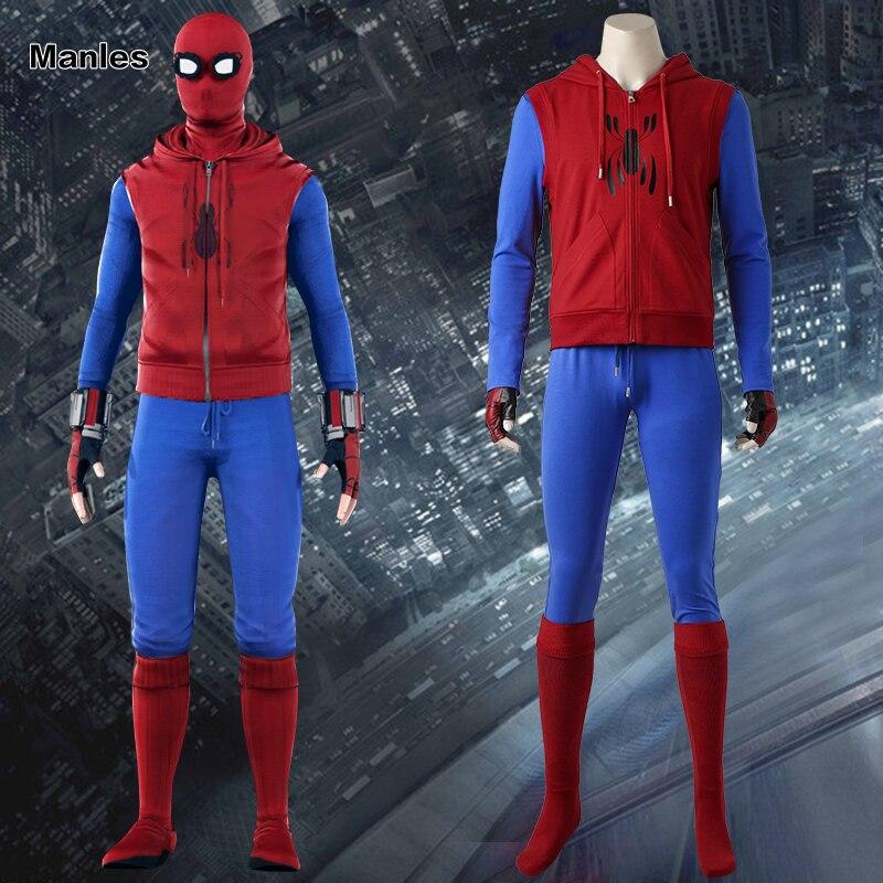 Spider-Man Homecoming Iron Spiderman Suit Superhero Costume Halloween Cosplay