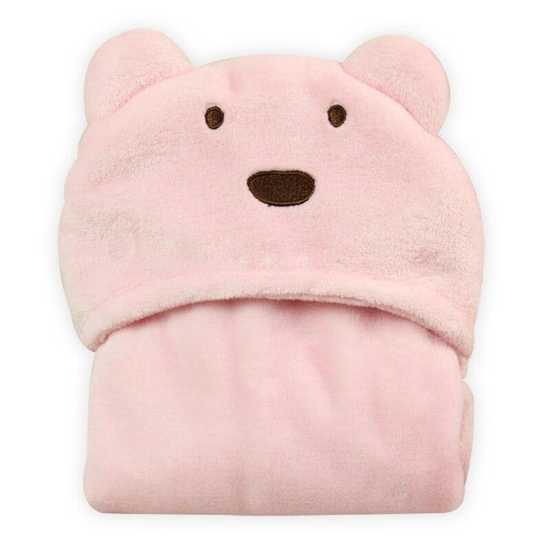 Детское одеяло с мишками для новорожденных, супер мягкий плащи для пеленания, 96x76 см, детский Пеленальный костюм, пеленка, спальный плюш