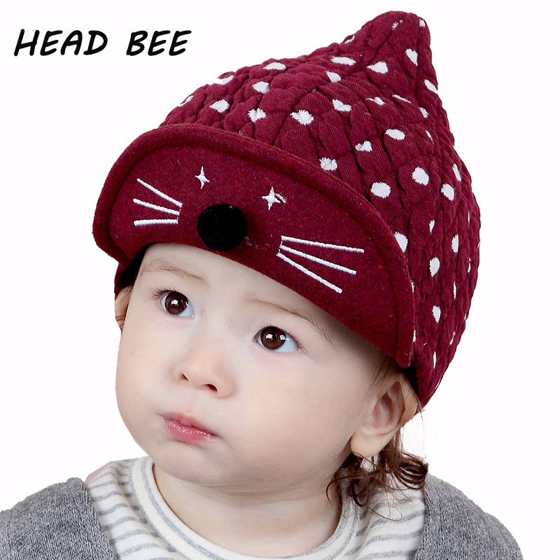[HEAD BEE] Brand Beanies Hat Winter Warm Cotton Skullies Kid Knitted Hat Cartoon Lovely Bonnet Cap for Boy and Girl skullies