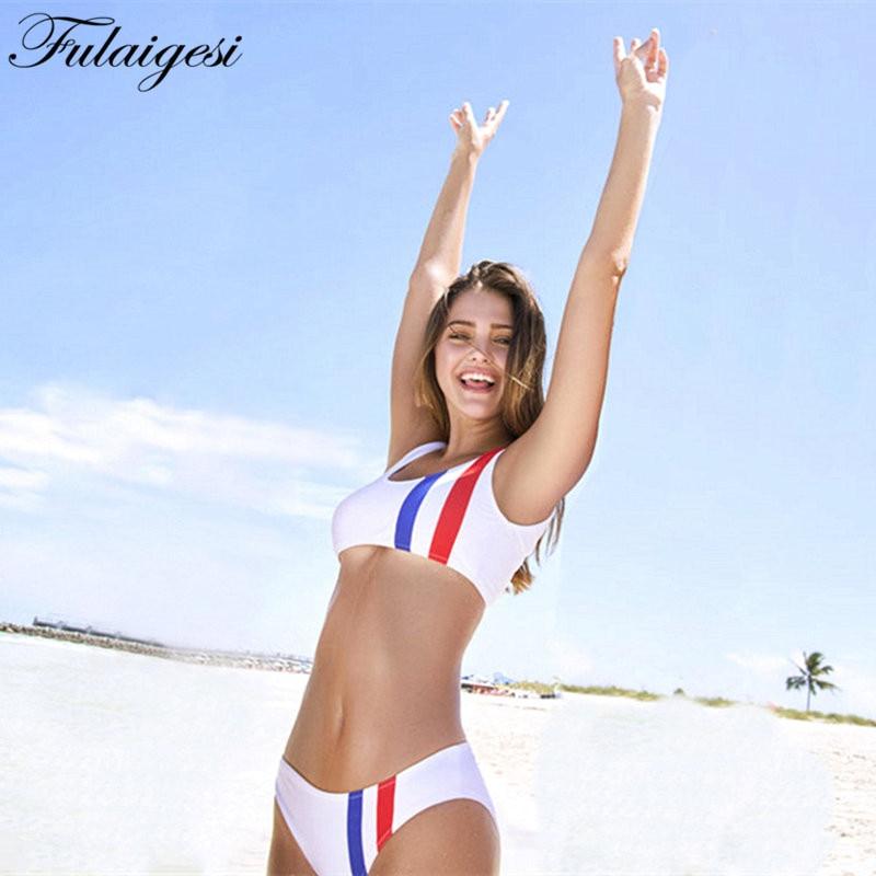 Fulaigesi Sport wear women Bikini white One piece swimsuit 2019 backless swimwear bathing suit for beachwear beach monikini set in Body Suits from Sports Entertainment