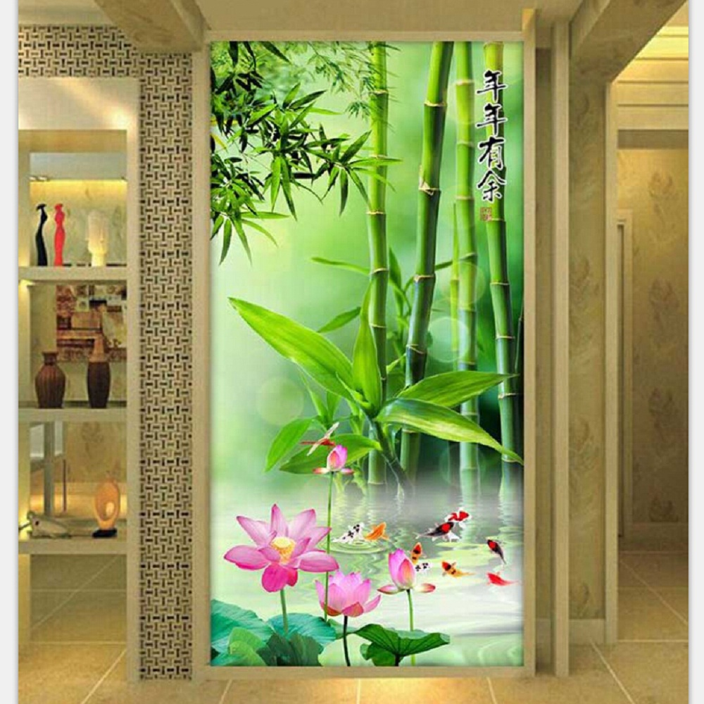 PSHINY 5D DIY Diamond embroidery sale bamboo scenery Full drill round - Arts, Crafts and Sewing - Photo 2