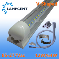2-20/Pack V-образный светодиодный трубки огни 2ft 3ft 4ft 5ft 6ft 8ft 270 угол лампы T8 интегрированный прибор Linkable бар лампа супер яркий