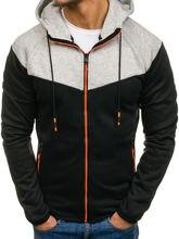 ZOGAA Brand New Fashion men hooodies zipper drawstring contrast color hooded hoodie tracksuit casual sweatshirts streetwear