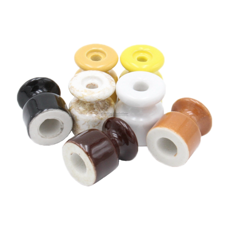 10/50Pcs Porcelain Insulator for Wall Wiring Ceramic Electrical Insulator with Screw10/50Pcs Porcelain Insulator for Wall Wiring Ceramic Electrical Insulator with Screw