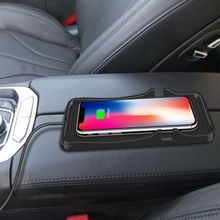 цена на Car Wireless Charging Pad Qi 10W Mobile Phone Quick Wireless Charger for iPhone X XR XS 8 plus Samsung S7 S9 NOTE 9/8 For Huawei