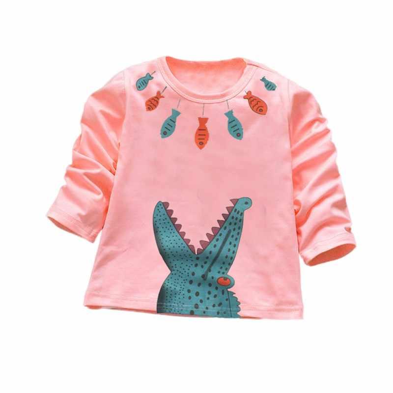 Bebé niños niñas Tops 2018 niños camisetas niños camiseta blusa chaquetas 100% algodón ropa de bebé niño