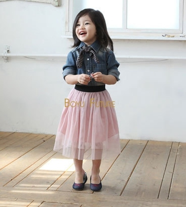 2016 New Summer Girls Clothes Baby Toddler Long Tulle Skirt  Baby Girl Clothes Children Clothes Pink, White Sizes 2-7years