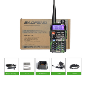 Image 4 - Baofeng UV 5R walkie talkie radio Camou Dual Band Portable Ham Transceiver UV5R Handheld Toky woky use for mountain and ocean