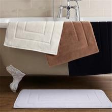 Five star hotel pure cotton bathroom door mat home kitchen geometric pattern
