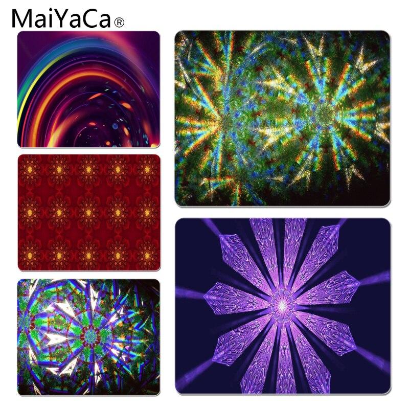 MaiYaCa Нескользящие PC Красочный калейдоскоп коврик для мыши геймер играть коврики Размеры для 18x22 см 25x29 см резиновая Мышь коврики