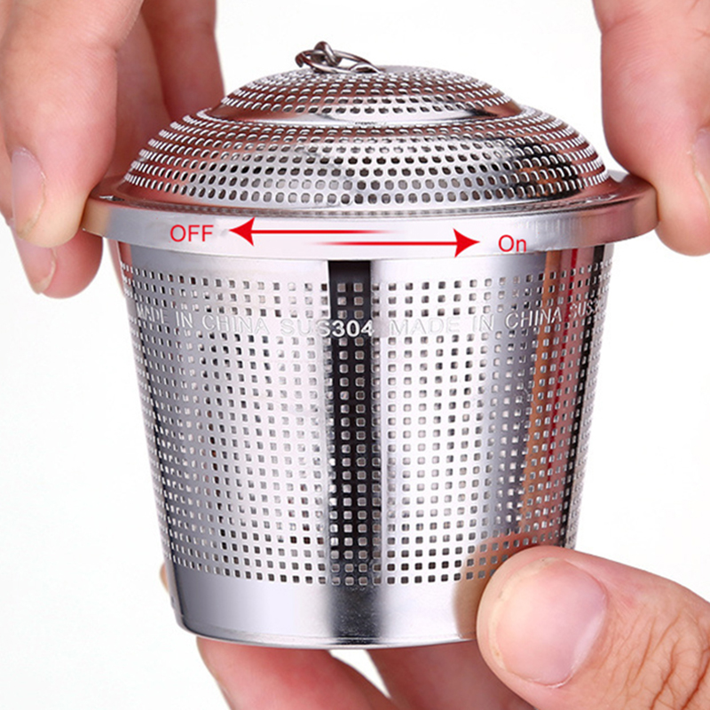 Stainless Steel Tea Maker Filter  Silver Large Medium Small Size Tea Infusers 304 Stainless Steel Filter Modulation Device