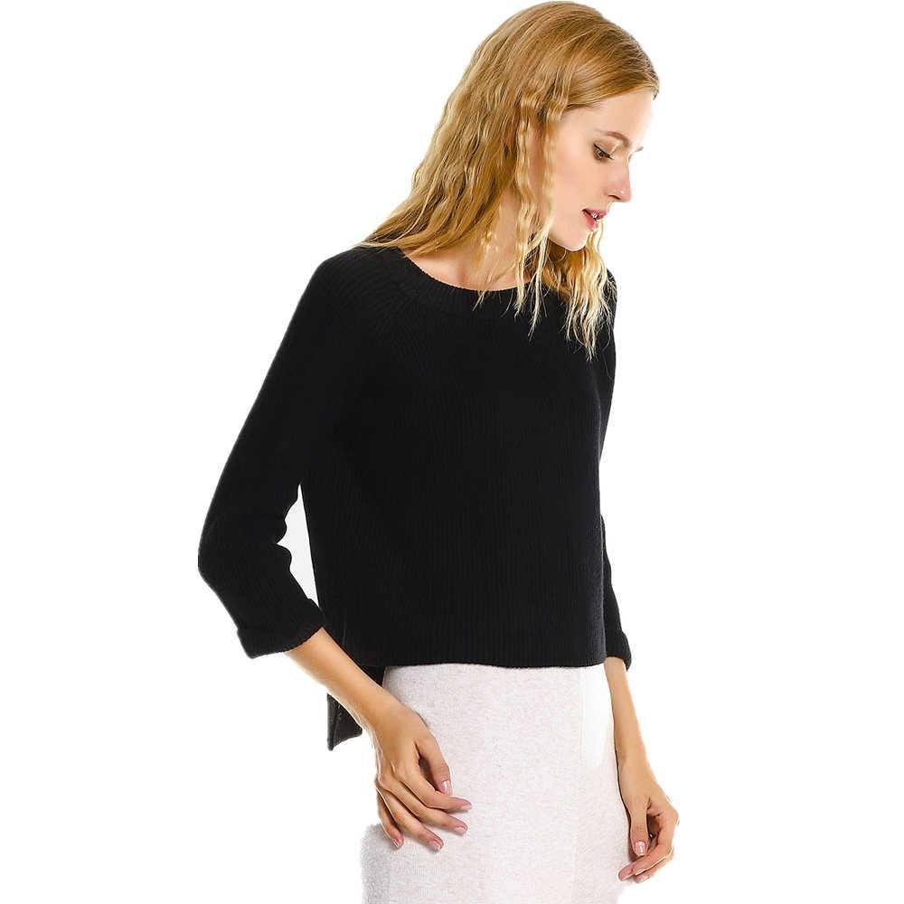 Kenancy/Новинка 2018 года; весенние женские трикотажные изделия; свитер; джемпер с разрезом по бокам; Femme; высококачественные базовые повседневные мягкие уютные пуловеры