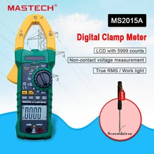 Digital Clamp Meter MASTECH MS2015A Auto range Multimeter AC 1000A Current Voltage Frequency clamp MultiMeter Tester Backlight