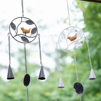 Japanese style bird Metal Wind Chime with Birds Garden Outdoor Decor Wind Chime Bell