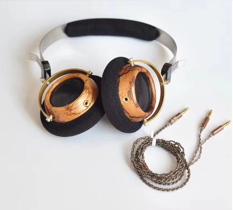 OKCSC 57MM Speaker Open Voice HIfi Olive Wooden Hea
