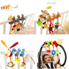 Animal Musical Stroller Baby Toys For Newborns Spiral on Pram Bed Bell Educational Toy For Infant Children Christmas Gifts