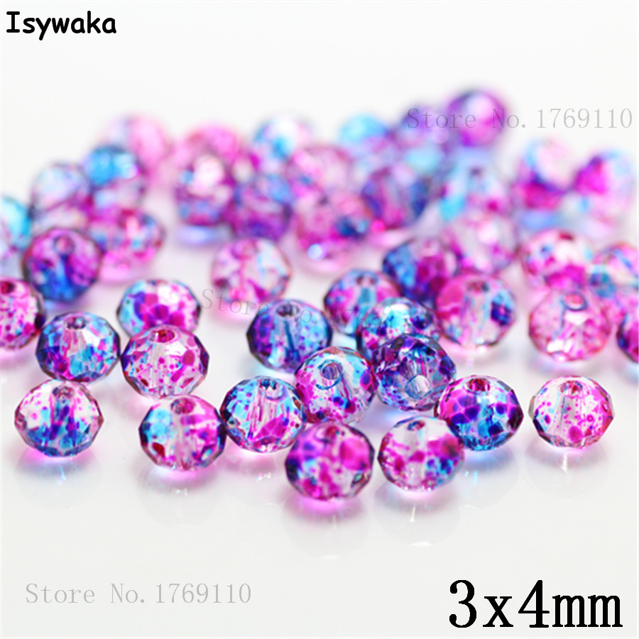 Isywaka 3X4mm 30,000pcs Rondelle  Austria faceted Crystal Glass Beads Loose Spacer Round Beads Jewelry Making NO.60Isywaka 3X4mm 30,000pcs Rondelle  Austria faceted Crystal Glass Beads Loose Spacer Round Beads Jewelry Making NO.60