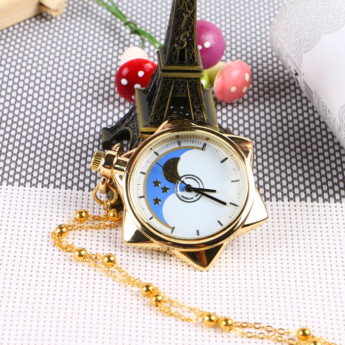 Sailor Moon Pocket Watch Crystal Tuxedo Mask Cosplay Necklace Star Locket Watch