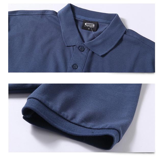 Summer Men Polo Shirt Brand Clothing Pure Cotton Men Business Casual Male Polo Shirt Short Sleeve Breathable Polo Shirt 5XL