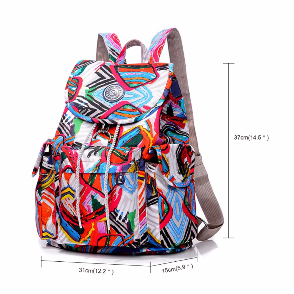 Fashion Women Backpack Waterproof Nylon Backpack 16 Colors Lady Womens Daypack Female Casual Travel Bag Mochila Feminina