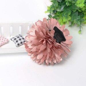 8cm Chrysanthemum Flower Hair Claw Clip Ponytail Holder Wholesale Lot Accessories For Women Girls Flower Hair Hairpin Headwear(China)