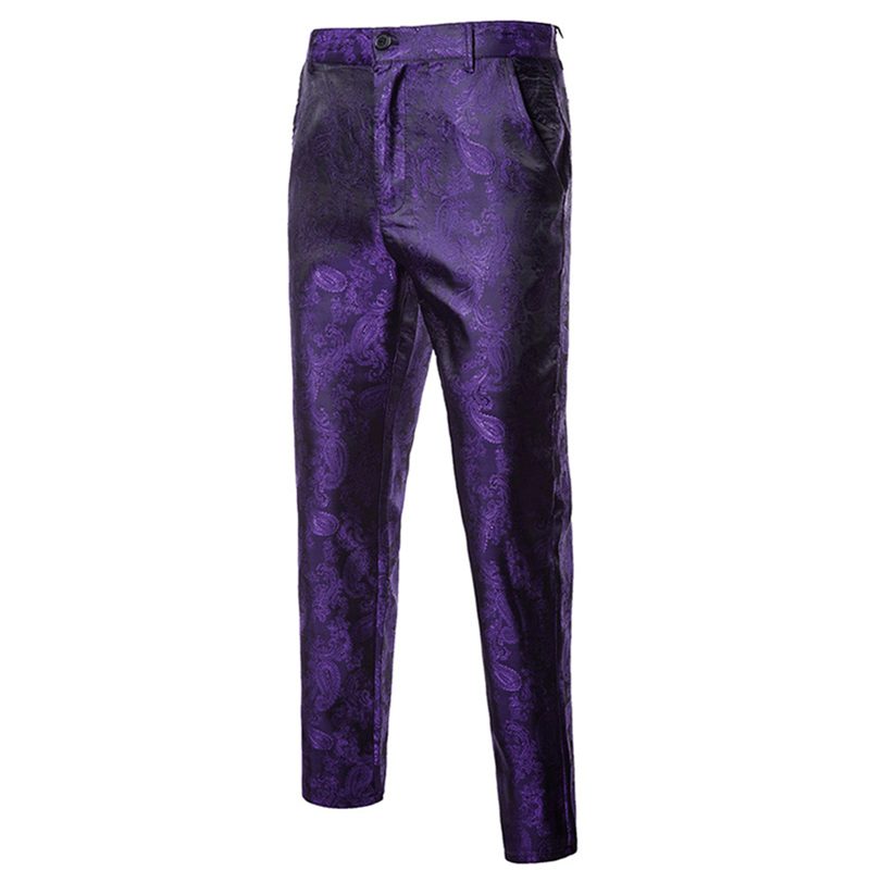 2019 new men flower pants Red purple black autumn and spring mens dress pant size M L XL XXL XXXL