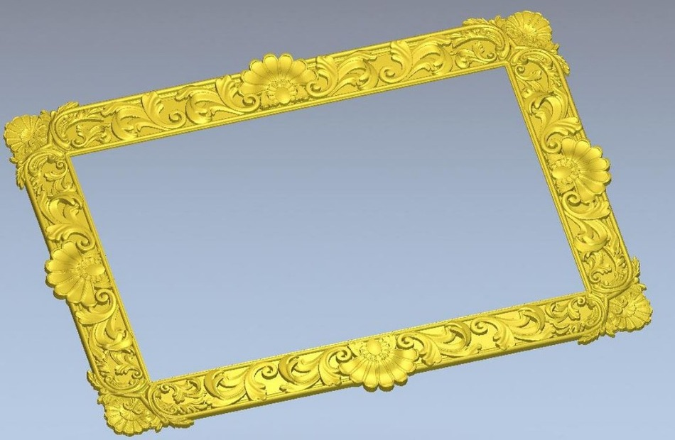 3d Model Relief For Cnc Machine In STL File Format Simple Border Frame