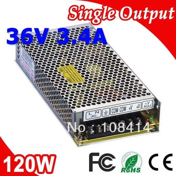 S-120-36 120 W LED 3.4A 36 V transformateur d'alimentation de 110 V 220 V AC à sortie cc