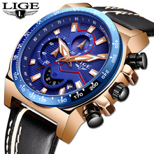 LIGE New Watch Men Simple Fashion Swiss Brand Quartz Watch Luxury Creative Waterproof Date Casual Men Watches Relogio Masculino sekaro 2806 switzerland watches men luxury brand 2018 new genuine quartz watch men s fashion trend waterproof casual simple