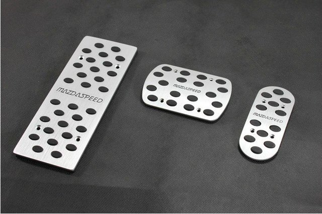 New Aluminium Alloy Foot Pedal Rest Plate Mazda  Speed Mazda 3 6 M3 M6 AT 3PCS AT