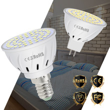 E27 LED Bulb GU10 LED Lamp MR16 Led 220V Corn Lamp E14 Spotlight Bulb GU5.3 48 60 80leds Home Lighting B22 Spot Light SMD 2835(China)