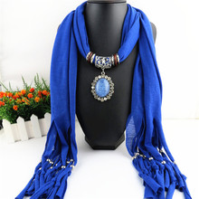 New Resin and Metal pendant scarves  women scarf shawl Elliptical Free shipping