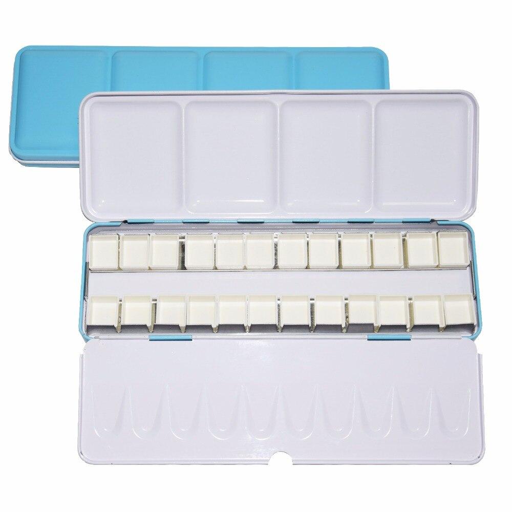 Акварельные краски Палитра Пигмент Палетт синий Tins коробка с 14 шт полные кастрюли и 24 половинки сковородки для художественной живописи палитра поставок|Палетка|   | АлиЭкспресс