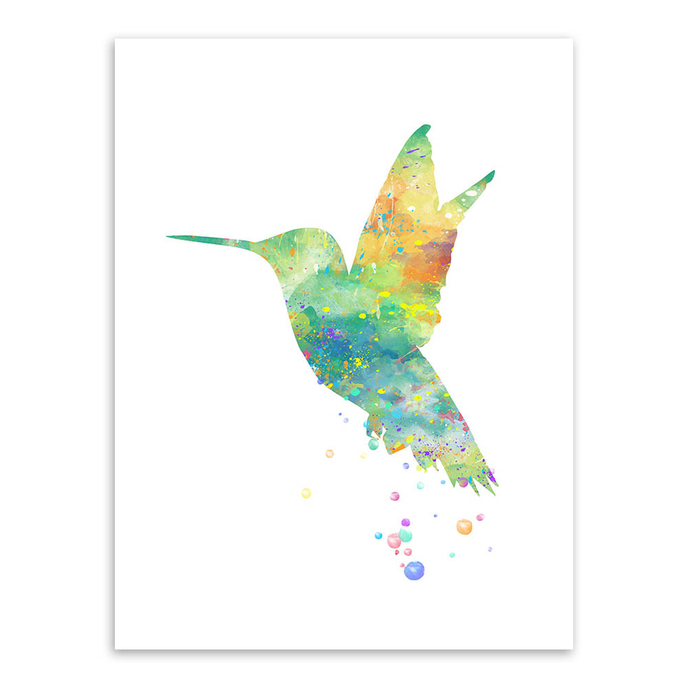 Watercolor Bird Animals Poster Prints Abstract Pictures Hipster Home Wall Art Decoration Canvas Painting No Frame Gifts