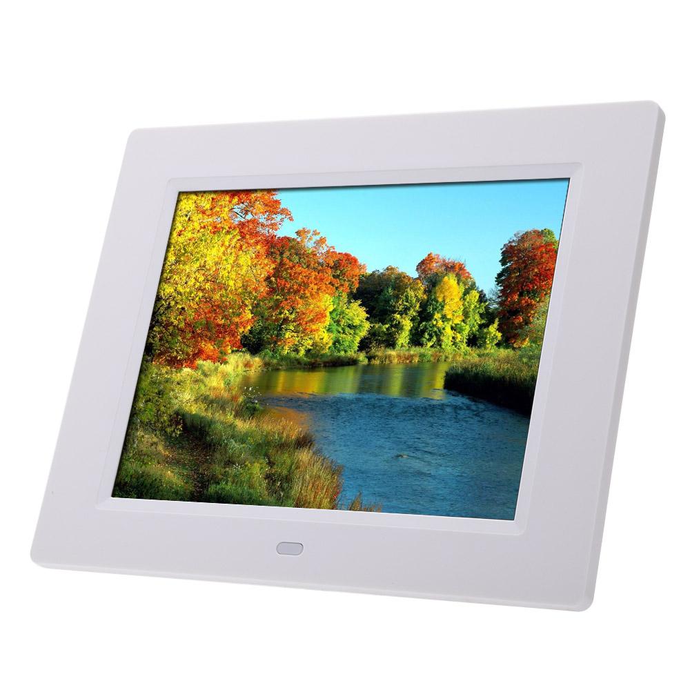 Prix pour Vente chaude Cadre Photo 8 ''Ultra-Mince HD TFT-LCD Numérique Cadre Photo Réveil MP3 MP4 Movie Player avec Télécommande de bureau