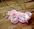 Blanco sandalias del bebé, algodón orgánico recién nacido lindo sandalias, Baby girls shoes recién nacido regalo de la muchacha, tamaño 9 cm, 10 cm, 11 cm