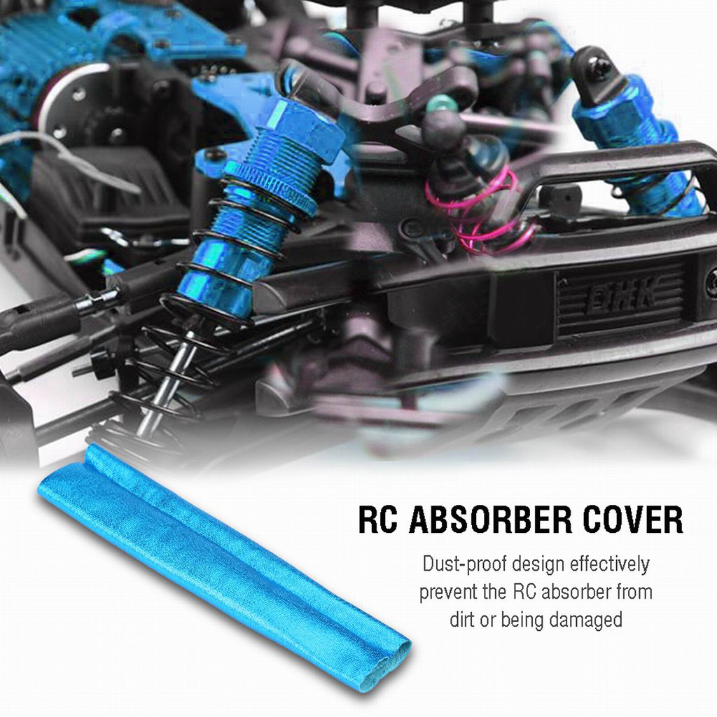 4pcs Dust Proof Shock Absorber Cover Guard For 1/8 RC Car Truck Buggy Crawler practical and convenient Remote control toys parts-in Parts & Accessories from Toys & Hobbies
