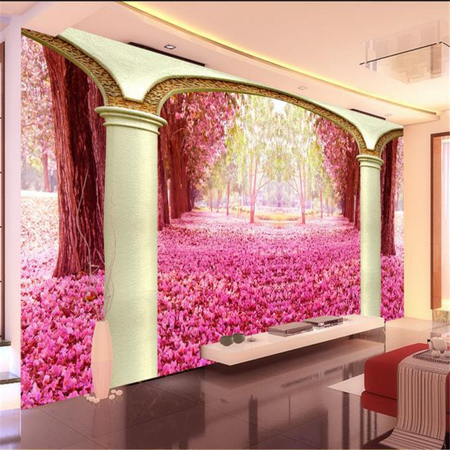 beibehang 3D stereoscopic marble columns Eurovision background ...