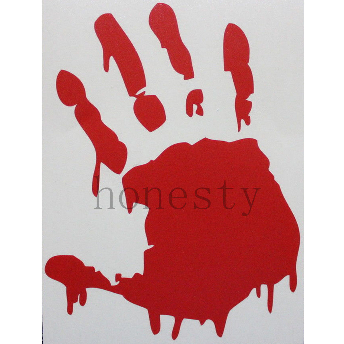 1pcs x bloody zombie red hand print car truck vehicle window winscreen wall bumper decal vinyl - Bloody Halloween Decorations