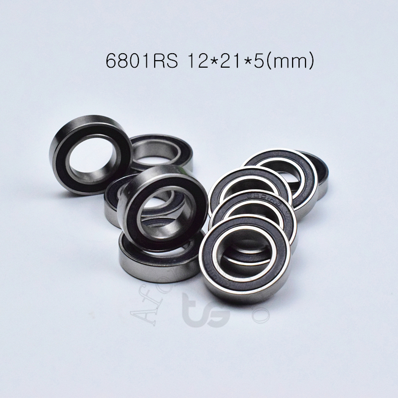 6801RS 12*21*5(mm) 10piece Bearing ABEC-5 6801 6801RS Chrome Steel Bearing Rubber Sealed Bearing Thin Wall Bearing Free Shipping